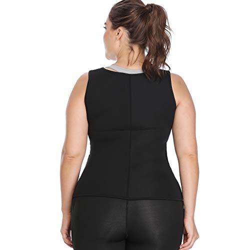 Joyshaper Sweat Neoprene Sauna Suit Tank Top Vest with Adjustable Waist Trimmer Belt for Weight Loss