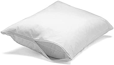 Feather/Down-Proof, 100% Cotton, Pillow Protector - Reduce Pokes with Hypoallergenic, Breathable, Machine Washable, Quiet, Soft Covers - Zippered Enclosure & Machine Washable (2, King)