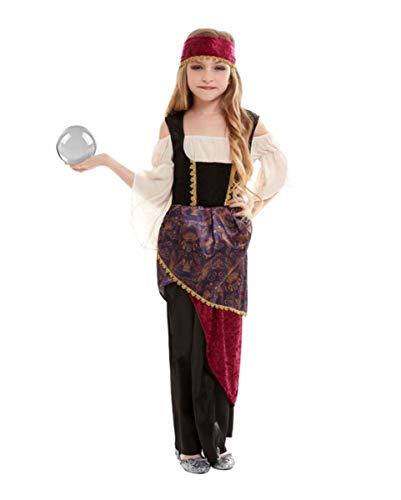 Horror-Shop Wahrsagerin Deluxe Kinderkostüm für Karneval und Halloween L