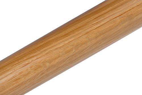 Handlauf Holz Eiche rund lackiert 0,50m bis 3,0m (1.60m)