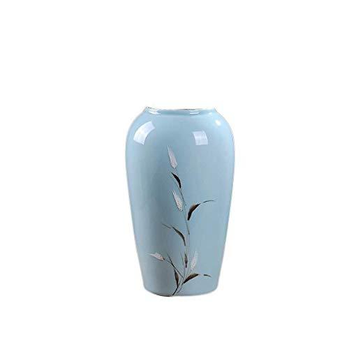 HongLianRiven Graf Vaas Plant Hoge Vaas Met Kunstbloemen Binnen En Buiten Voor Kinderen Vriendin Gift 19X20cm 10-26