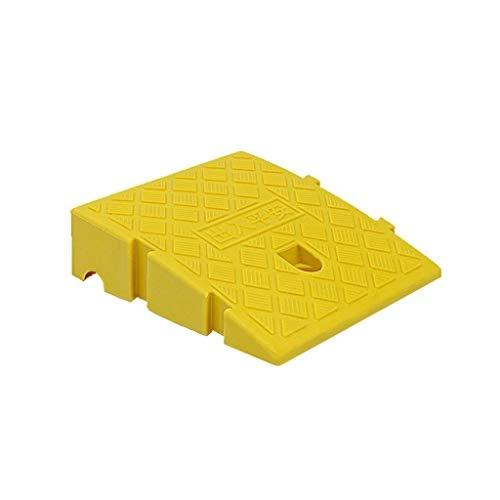 CSQ-Rampen 7 cm / 11 cm Kunststoff Hang Pad, Splicable Tragbare Stufenrampen Kinderwagen Fernbedienung Auto Bordstein Rampen Schwarz/Gelb Bordsteinkanten (Color : Yellow, Size : 25 * 27 * 7CM)