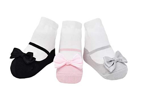 Baby Emporio Calzini per neonati e bambini piccoli con effetto scarpa - 3 o 6 paia - Confezione regalo (LITTLE PRETTIES-SCATOLA, 0-12 Mesi)