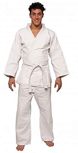 BeMartial Beginner, Judogi Unisex – Adulto, Bianco, 1/140 cm