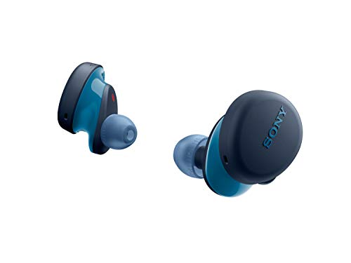 Sony WF-XB700 Extra BASS True Wireless Earbuds Headset/Headphones with mic for Phone Call Bluetooth Technology, Blue, Model: WFXB700/L