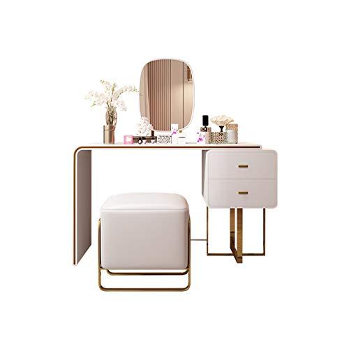 QWERTY Tocador Escritorio De Maquillaje con Taburete Mesa De Cosmética para El Dormitorio Tocador de Muebles Modernos (Size : Long1.2m)