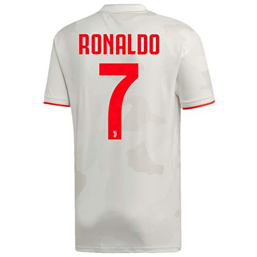 adidas Juventus 2019-20 Ronaldo Away Jersey (US Size Men's Small) White