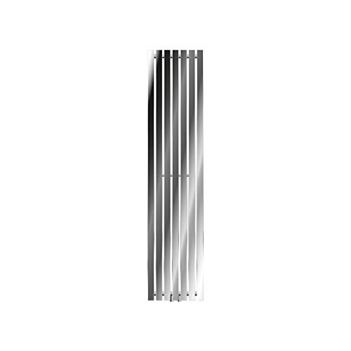 ECD Germany Radiador Stella Radiador de Diseño Vertical - radiador de panel - 370 x 1600 mm - cromo - Toallero agua calefaccion