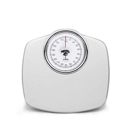 ZAQXSW-dzc Weibliche Präzisionsapotheke der männlichen elektronischen Skala der mechanischen Waage der kleinen Erwachsenen Haushaltsgesundheits-Gewichtsskala mit Skala (Color : White)