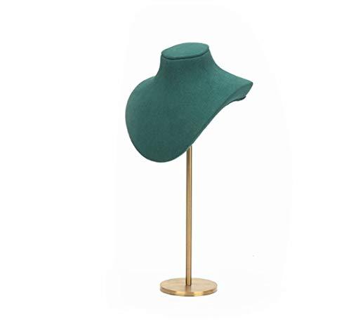 Retrato Collar Monitor Estan Vestidor Decoración Joyería Almacenamiento Bandeja Casa Artesanía Sencillo Y Elegante/Green / 20x11.5x62.5cm