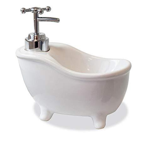 trendaffe Badewanne Seifenspender - Bath Tub Seifendosierer Flüssigseifenspender