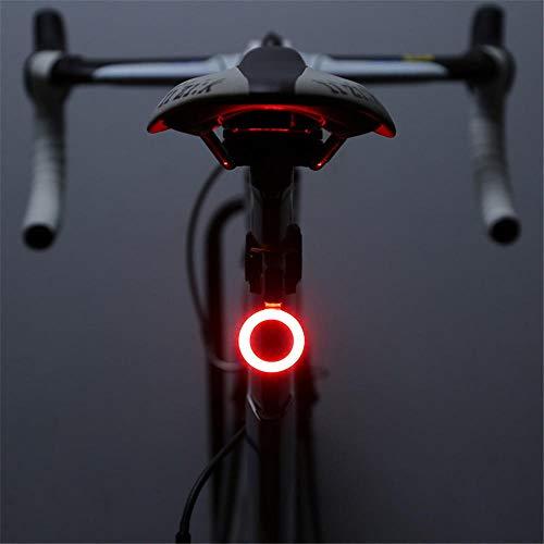 Achterlicht voor fiets, USB, led, 10 lumen, hoge helderheid, voor mountainbike, nachtrijlicht, waarschuwingslicht.