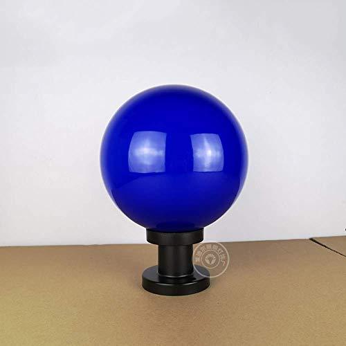 BXZ Lámparas de columna Bola redonda para exteriores Moderna E27 Impermeable (Acrílico + Pc) Césped Patio Jardín Lámpara de pie para sala de estar Luces de camino Lámpara de pedestal Estilo rural Pil