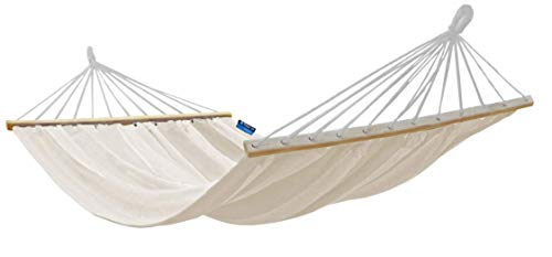 Potenza The Good Weather Co. Premium Double (XXL: 2 Person) Cocoon Style Hammock  Holds: 200kg  Size: 220cm x 160cm  Colour: Roma Crossbar