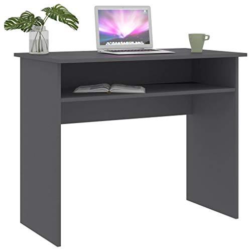 pedkit 2# Escritorio de aglomerado Gris 90x50x74 cm Mesa de Ordenador Esquina Escritorios Juvenil para Hogar o Oficina
