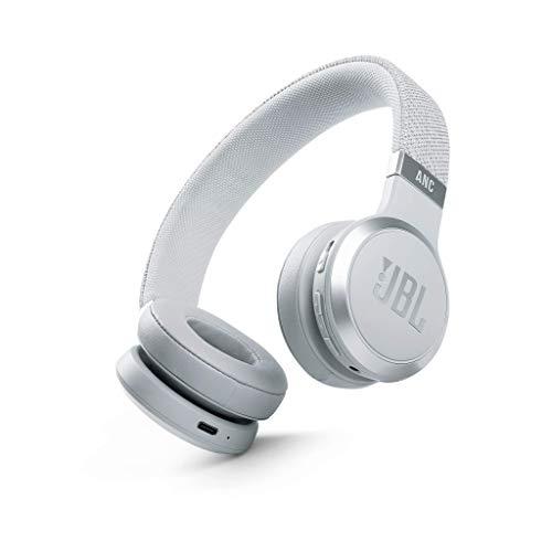 JBL LIVE 460NC Auriculares supraaurales inalámbricos con cancelación adaptativa de ruido, tecnología Bluetooth, hasta 50h de batería sin NC, asistente de voz y conexión multipunto, blanco
