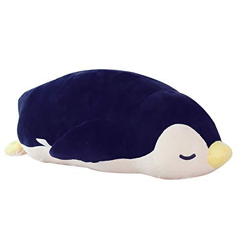 FINIVE Plüschtier, Reizendes Karikatur-Pinguin-Puppen-Spielzeug-angefülltes Plüsch-Wurfs-Kissen-Sofa-Dekor-Geschenk Schwarz 50cm