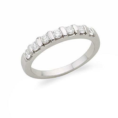 Miore MC215WO - Anillo de mujer de oro blanco (18k) con 7 diamantes (talla: 14)