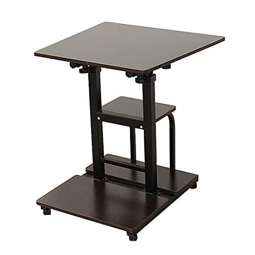GAXQFEI Home Desktop Computer Desk Notebook Table Office Table Mobile Office Simple Desk Table Mesa Plegable,a