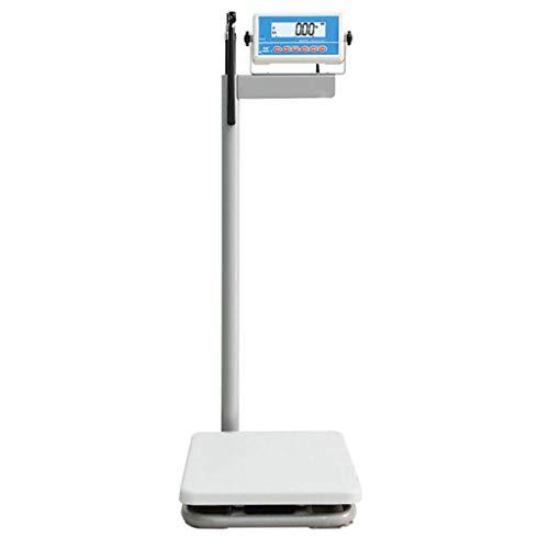 ACZZ Mechanische Personenwaage Elektronische Waagen, Augenhöhe Digitalwaage, HD-LCD-Display, Mess Größe/Gewicht/Bmi, justierbare Aluminium Höhe Rod,Genauigkeit 20g