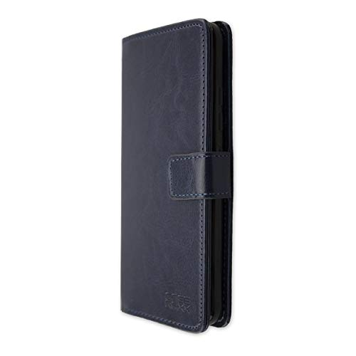 caseroxx Hülle für das Gigaset GS370, Taschen in verschiedenen Varianten (Flipcase, TPU-Bumper & Bookstyle) (Bookstyle-Tasche, blau)