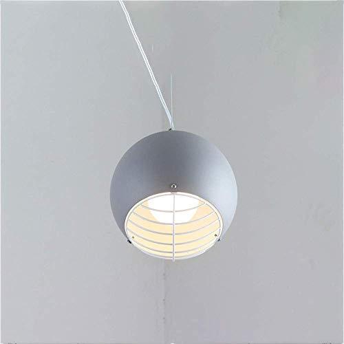 CAIMEI Candelabro Luces Colgantes Pantalla de Metal Ahuecada E27 Base Lámpara Colgante de Techo para Sala de Estar Dormitorio Cocina Isla Lámpara Colgante (Color: Amarillo),Gris