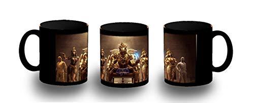 MERCHANDMANIA Taza Completamente Negra Faraon Egipto Giza PIRAMIDES Black mug