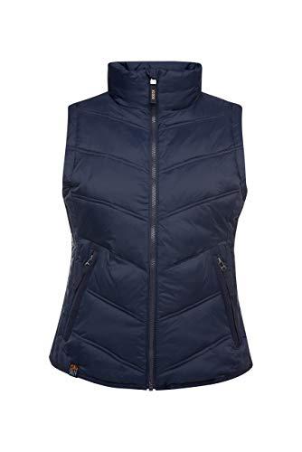 SOCCX Damen Outdoorweste mit Zippertaschen
