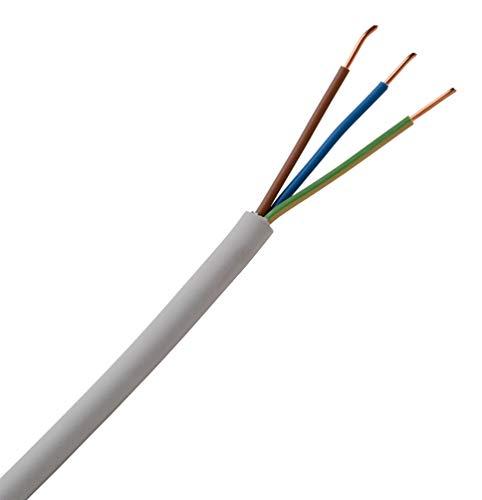 Kopp 150850849 NYM-J 3 x 1,5 mm² Feuchtraum-Kabel, 50 m-Ring