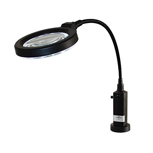 Bergeon 7841 LED-Lampe mit Lupe, Tischlupe, Lupenleuchte, für Uhrmacher, Goldschmiede, Juweliere, 4-fache Vergrößerung