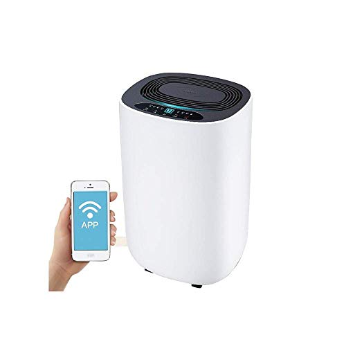Find Discount LSYOA Intelligent Air Dehumidifier, Mobile APP Control Portable Quiet Dryer for Bedroo...