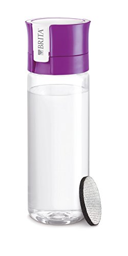 BRITA FILL & GO Water Bottle with Filter + 1 Extra Filter Disc - PURPLE [Japan Import]
