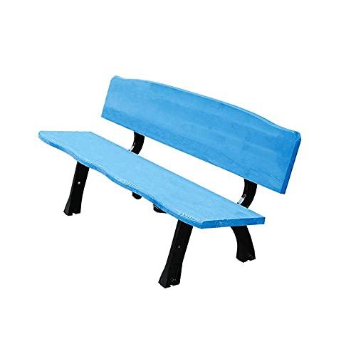 ADSE Gartenmöbel Parkbank Patio Stuhl, 3-Sitzer Korrosionsschutz Massivholz Garten Freizeitbank, Picknickbank mit Rückenlehne Terrasse Restaurant, Kann eine Last von 1000 Pfund tragen