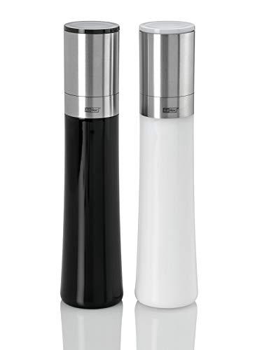 AdHoc Aroma MP225 Moulin à Poivre et à sel 2 pièces Moulin à Poivre Moulin à sel Moulin à épices Acier Inoxydable/Acrylique 23,5 cm
