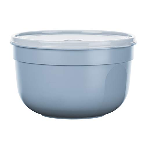 Emsa N10817 Superline Frischhaltedose   Schüssel: Kunststoff (PP)   Puderblau 23,5 x 23,5 x 14,8 cm, 4,0 L