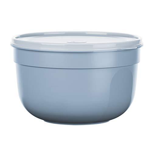 Emsa N1081700 Superline Frischhaltedose, Schüssel: Kunststoff (PP), Puderblau 23,5 x 23,5 x 14,8 cm, 4,0 L