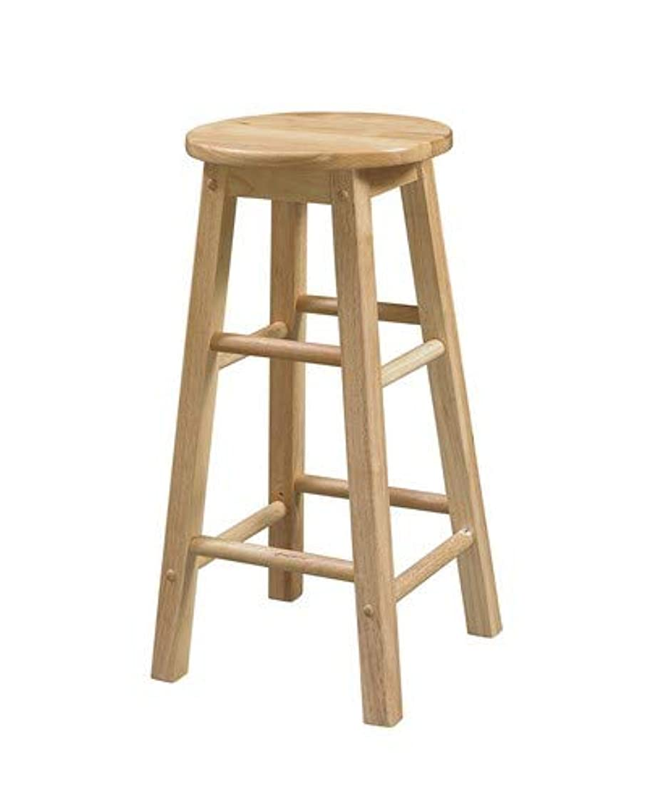 Linon Natural Barstool with Round Seat, 24-Inch ahkew1897925816