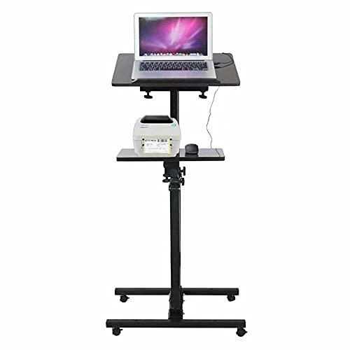 Lounger Mesa para portátil Ajustable en Altura,Escritorio móvil,Mesa para portátil para la Cama,Soporte para portátil,Mesa Auxiliar para sofá,1,5 m