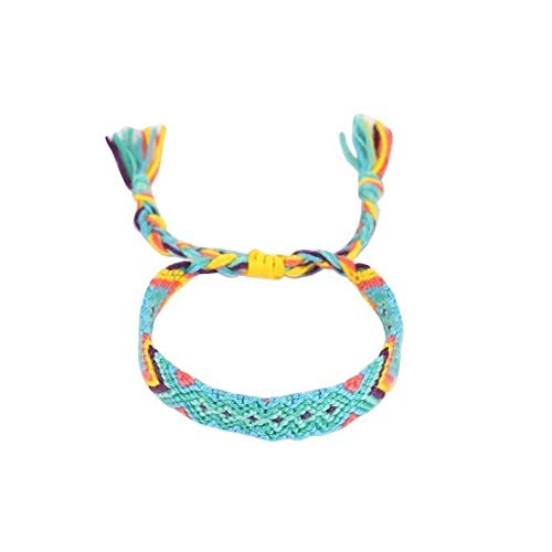 YDZS Pulsera de Tobillo Pulsera Hecha a Mano Retro Multicolor Cuerda Trenzada Hippie Pulsera de la Amistad Entre Hombres y Mujeres Pulseras para Mujer (Color : 8)