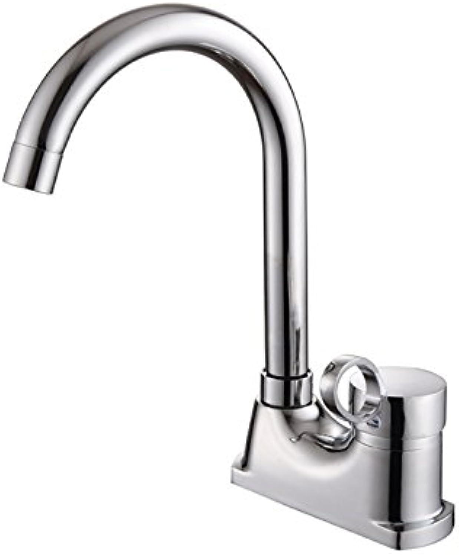 Gyps Faucet Waschtisch-Einhebelmischer Waschtischarmatur BadarmaturKüche Wasserhahn Legierung Bnke Küche Wasserhahn Einzelne Bohrung 360 Grad schwenkbares warme und kalte Becken