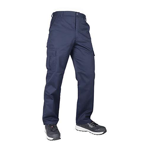 Lee Cooper Pantalon de Sécurité Classique Multi-Poches pour Hommes, Bleu Marin, 42W/33L (Longue)