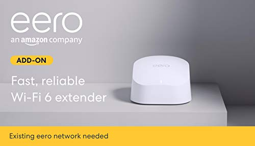 Amazon eero 6 dual-band mesh Wi-Fi 6 extender - expands existing eero network