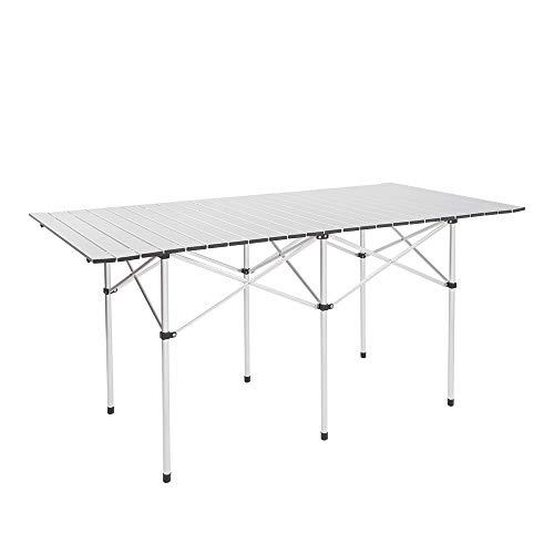 Readyfor Mesa de Camping, De Aluminio Plegable Mesa Exterior - Mesa de Camping Mesa para Barbacoa Terraza Jardín - 140 × 70 × 70cm