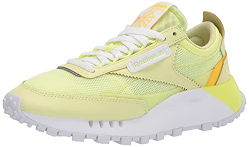 Reebok Women's Classic Legacy Sneaker, Energy Glow/White/semi Energy Glow