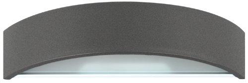 Ranex 5000.333 Lampada da Parete Bastia Rotonda Unidirezionale in Alluminio, 220-240V, Nero
