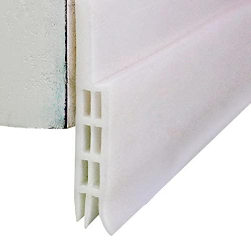 Tapón para puerta de bajo puerta, para evitar el ruido, color blanco, como se muestra, I, 5 cm, 1 m