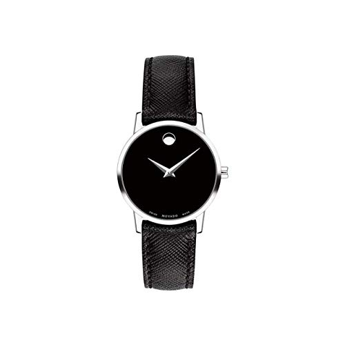 Movado Reloj de Mujer Cuarzo 28mm Correa de Cuero Caja de Acero 607204