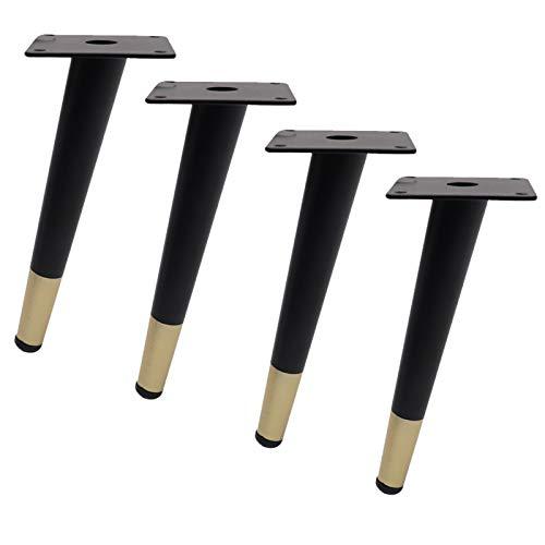 GYF 4 Piezas Patas De Muebles, Pies De Muebles De Metal Fácil De Instalar para Sofás, Camas, Sillones, Mesas (Color : Oblique Vertebra, Size : 72cm)