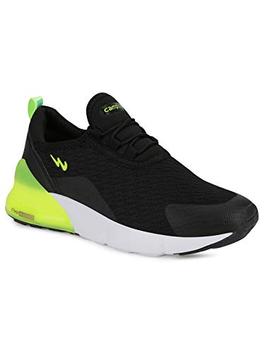 Campus Kids Milo BLK/P.GRN Running Shoes -4 UK/India