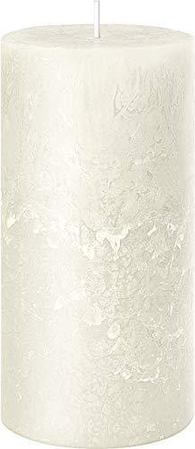 Rustic Kerze (Safe Candle/selbstverlöschend), 4 Stück, Höhe 11 cm / Ø 6 cm, 38 Std. Brenndauer (Wollweiß)